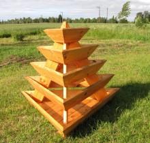 5-ne taimepüramiid tumeda tõrvaõliga